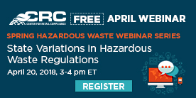 CRC April Haz Waste Webinar